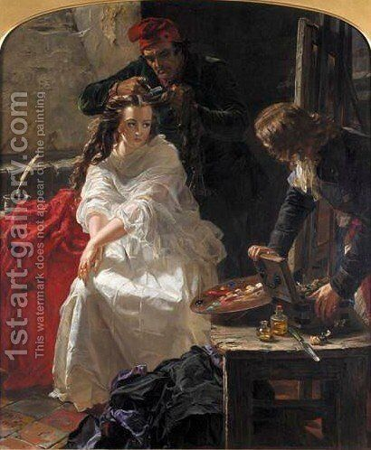 La Toilette Des Morts by Edward Matthew Ward - Reproduction Oil Painting