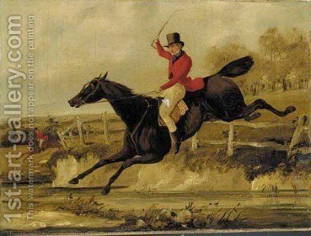 The Jump by Henry Thomas Alken - Reproduction Oil Painting
