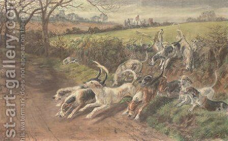 On the scent by Basil Bradley - Reproduction Oil Painting