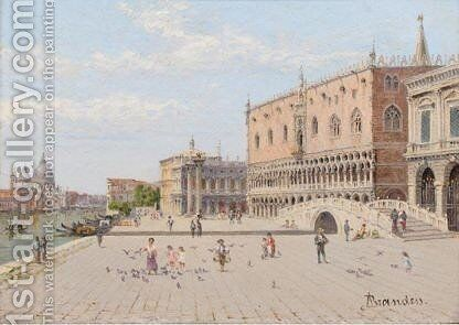 Two Views Of Venice La Piazzetta In Front Of The Doge's Palace by Antonietta Brandeis - Reproduction Oil Painting