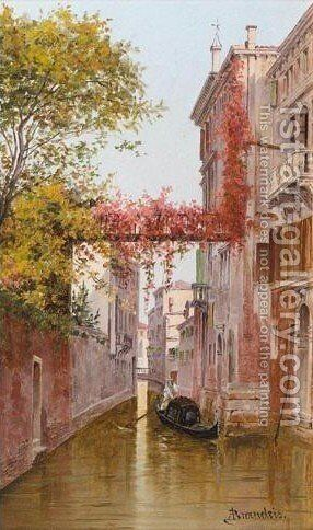 Palazzo Albrizzi by Antonietta Brandeis - Reproduction Oil Painting