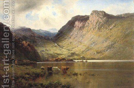 Bealach-rambo by Alfred de Breanski - Reproduction Oil Painting