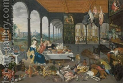 An Allegory Of The Sense Of Taste 2 by Jan, the Younger Brueghel - Reproduction Oil Painting