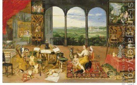 Hearing by Jan, the Younger Brueghel - Reproduction Oil Painting