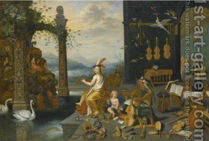 An Allegory Of The Sense Of Hearing 2 by Jan, the Younger Brueghel - Reproduction Oil Painting