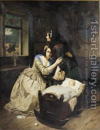The Deserted Woman by Carl Wilhelm Hübner - Reproduction Oil Painting