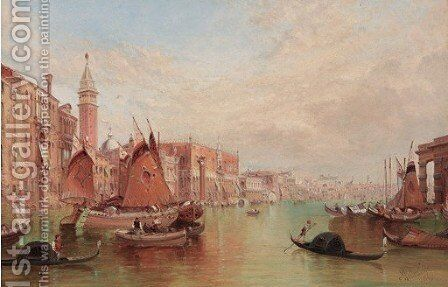 The Doge's Palace, Venice 2 by Alfred Pollentine - Reproduction Oil Painting