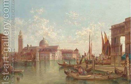 The Grand Canal, Venice 10 by Alfred Pollentine - Reproduction Oil Painting