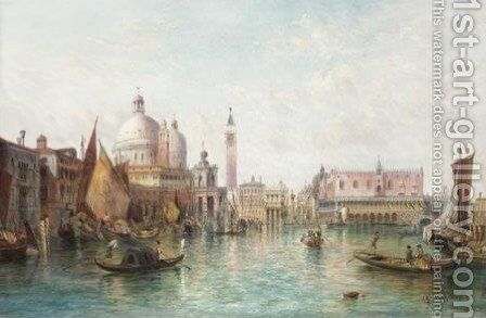 A View Of The Dogana And St Mark's Square by Alfred Pollentine - Reproduction Oil Painting