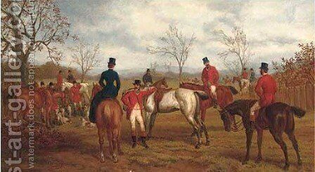 Preparing to set off by Edward Benjamin Herberte - Reproduction Oil Painting