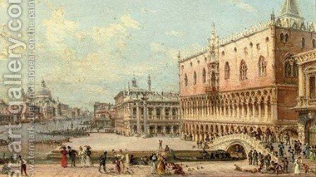 A view of the San Marco by Giovanni Grubacs - Reproduction Oil Painting