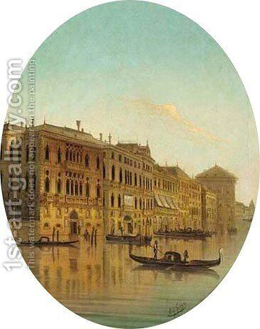 Venice seen from the Grand Canal by August von Siegen - Reproduction Oil Painting
