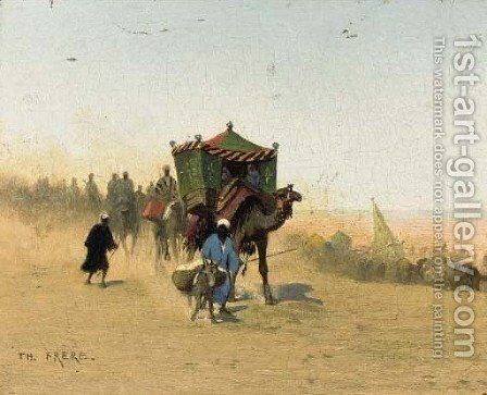 The Caravan by Charles Théodore Frère - Reproduction Oil Painting