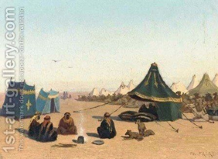 An Arab Encampment 3 by Charles Théodore Frère - Reproduction Oil Painting