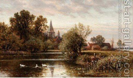 View Of Bosham, Sussex by Alfred Glendening - Reproduction Oil Painting