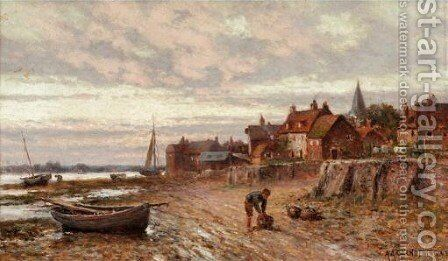 View Of Bosham, Sussex 2 by Alfred Glendening - Reproduction Oil Painting