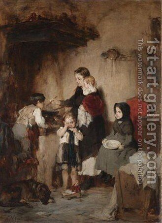 The Orphans by Nicholas Gysis - Reproduction Oil Painting