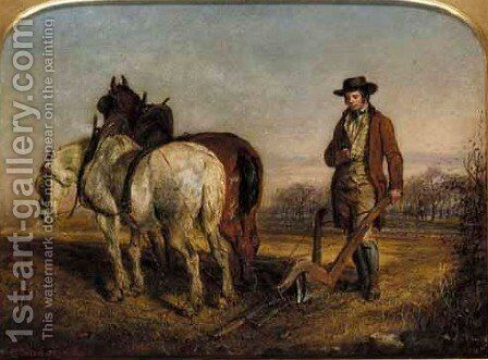 Burns At The Plough by Gourlay Steell - Reproduction Oil Painting