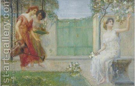 Allegorical Scene by Eduard Veith - Reproduction Oil Painting