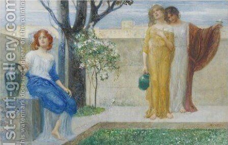 Allegorical Scene 2 by Eduard Veith - Reproduction Oil Painting