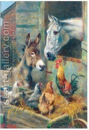 Stable Friends by Herbert William Weekes - Reproduction Oil Painting