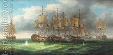 A Napoleonic action by James Hardy Jnr - Reproduction Oil Painting