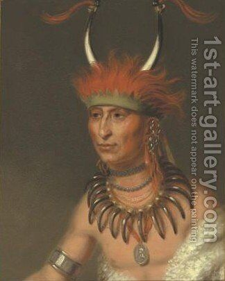 Ottoe Half Chief, Husband Of Eagle Of Delight by Charles Bird King - Reproduction Oil Painting
