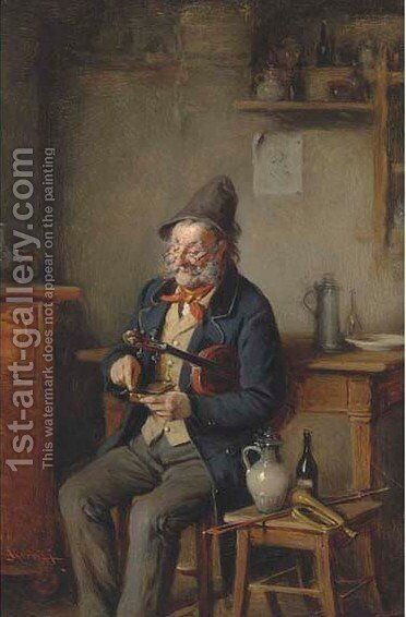 Musical refreshment by Hermann Kern - Reproduction Oil Painting