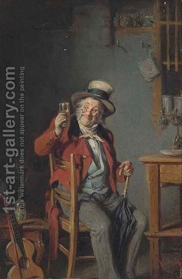 Musical refreshment 2 by Hermann Kern - Reproduction Oil Painting