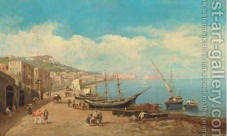 The Bay of Naples 4 by Giuseppe Carelli - Reproduction Oil Painting