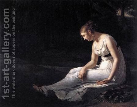 Melancholy 1801 by Constance Marie Charpentier - Reproduction Oil Painting