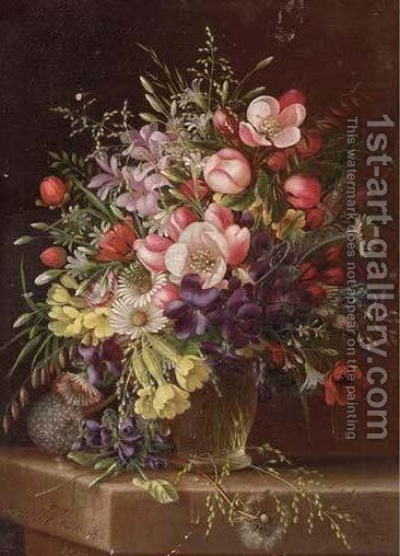 Floral Still Life 3 by Adelheid Dietrich - Reproduction Oil Painting