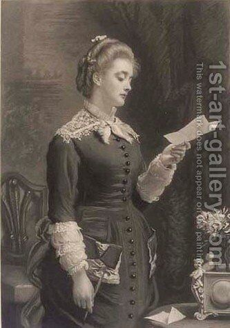 The letter by Dorothy Tennant - Reproduction Oil Painting