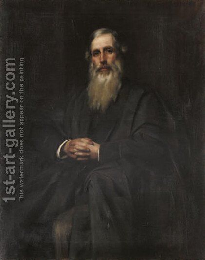 Portrait of Henry Sidgwick Esq. by Henry John Hudson - Reproduction Oil Painting