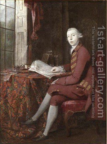 Portrait Of Anthony Chamier by Benjamin Wilson - Reproduction Oil Painting