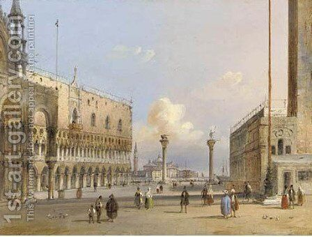 St. Mark's Square by Carlo Grubacs - Reproduction Oil Painting