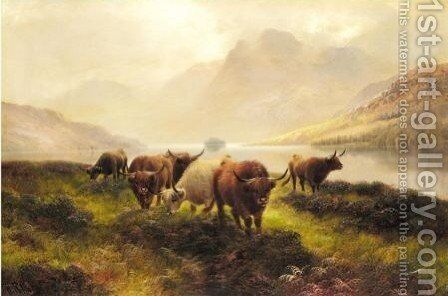 Highland Cattle, Glen Rosa by Harry Hall - Reproduction Oil Painting
