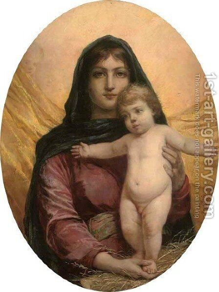 The Madonna and Child by Anna Maria Elisabeth Jerichau-Baumann - Reproduction Oil Painting