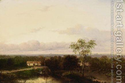 Two Summer Landscape by Jan Evert Morel - Reproduction Oil Painting