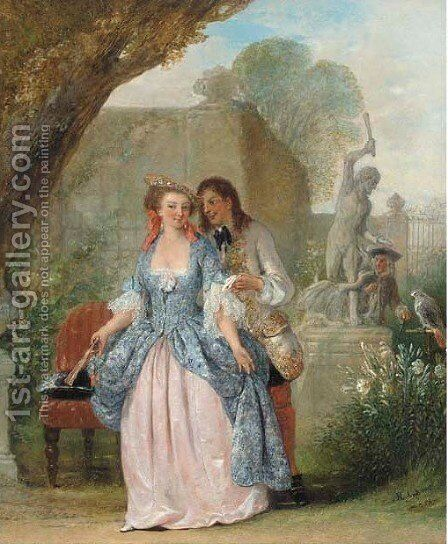 The scandal by Henry Andrews - Reproduction Oil Painting