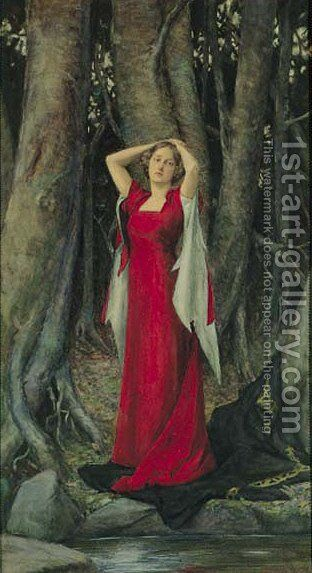 Isolde 2 by Henry Meynell Rheam - Reproduction Oil Painting