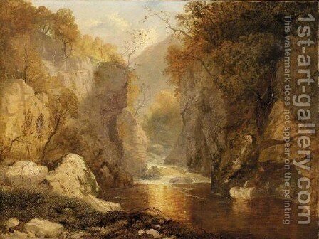 The Fairy Glen, Betswy Coed by James Baker Pyne - Reproduction Oil Painting