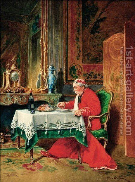 A good feast by Alfred Charles Weber - Reproduction Oil Painting