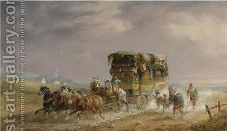 Coaching And Travel 2 by Charles Cooper Henderson - Reproduction Oil Painting