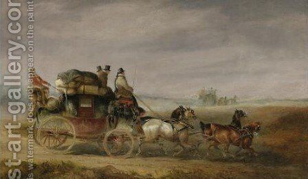 Coaching And Travel by Charles Cooper Henderson - Reproduction Oil Painting