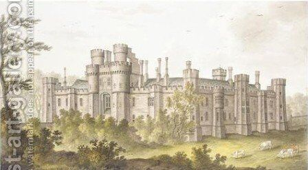 View Of Herstmonceux Castle, Sussex 2 by James Lambert - Reproduction Oil Painting