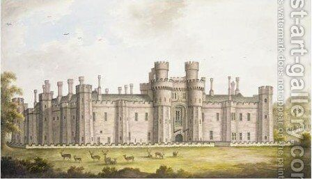 View Of Herstmonceux Castle, Sussex by James Lambert - Reproduction Oil Painting