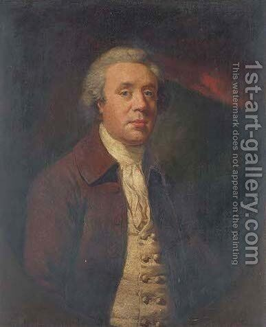 Portrait of Richard Baylay of Stoke Damerall near Plymouth by James Northcote, R.A. - Reproduction Oil Painting