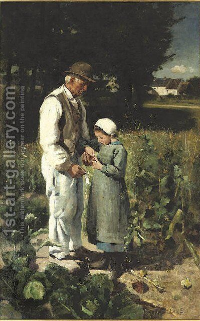 In the fields, Anvers sur Oise by Edward Stott - Reproduction Oil Painting