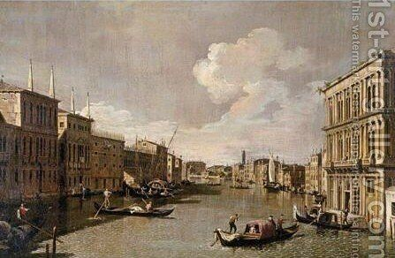 View Of The Grand Canal From The Palazzo Vendramin Calergi To San Geremia 2 by Apollonio Domenichini - Reproduction Oil Painting